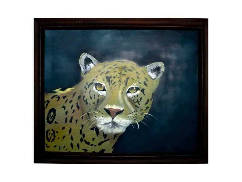 Cheetah Painting by Kathy Martel