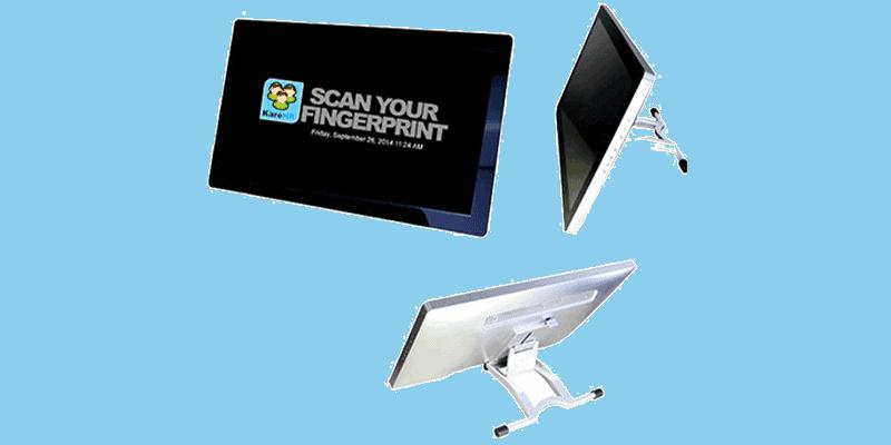 fingerprint scanner monitor and display