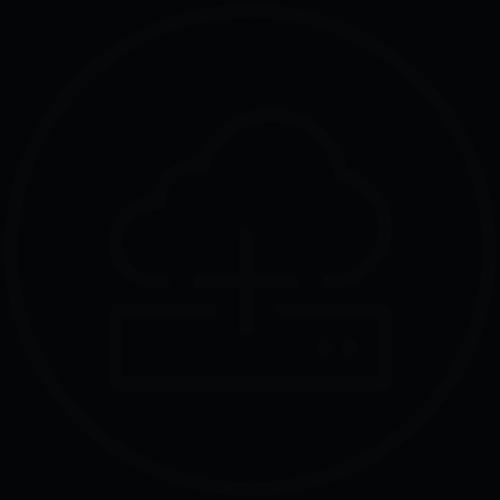 hybrid cloud server icon