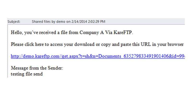 file transfer protocol email