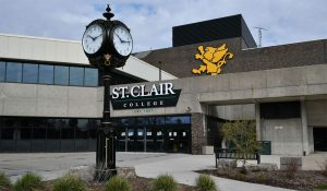 front door entrance to st clair college