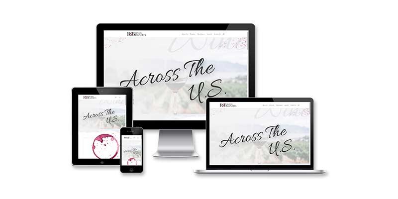 r&b wine imports responsive website design